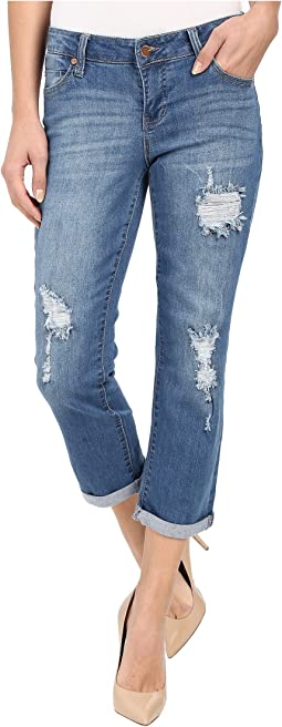 Liverpool Corey Cropped Boyfriend Jeans in Melbourne Light Blue