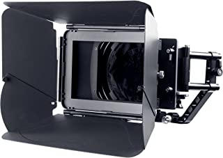 Movo MB400 MK II Professional Matte Box with Swing-Away Arm, French Flags, Side Wings and Universal Anti-Reflection Donut (for 15mm Rod System)