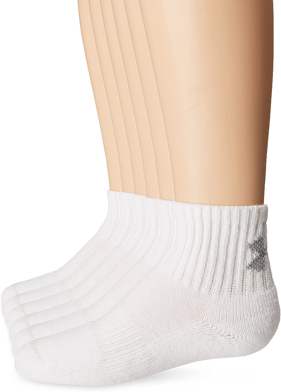 Under Armour Youth Cotton Quarter Socks, 6-pairs