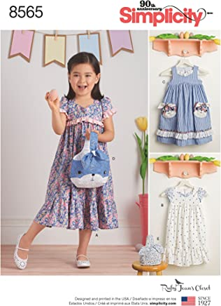 a12536562cd724 Simplicity Creative Patterns Child's Ruby Jean's Dresses & Purses Pattern A  (3-4-
