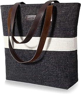 Lamyba Tote Bag for Women, Shoulder Tote Bag Purse Handbag for Work Travel Shopping, Medium and Large Size
