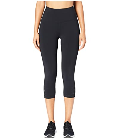 Core 10 Onstride High-Waisted Run Capri Leggings (Black) Women