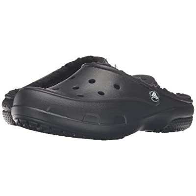 Crocs Freesail Plush Lined Clog (Black/Black) Women
