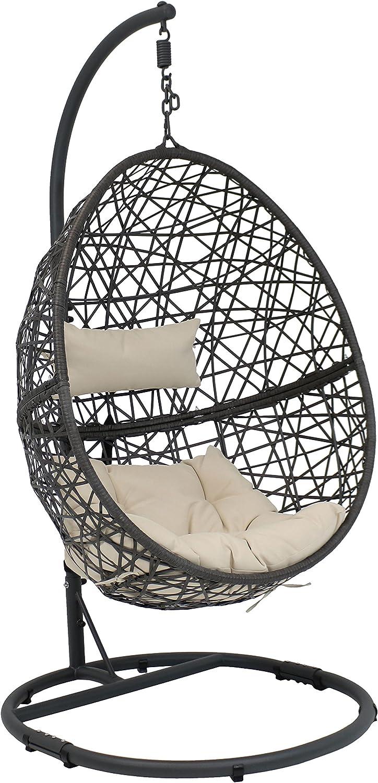Sunnydaze Caroline Hanging Egg San Price reduction Antonio Mall Chair Steel Swing Set Stand with