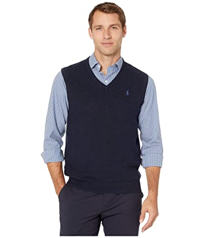 Polo Ralph Lauren Pima Knit Vest (Navy Heather) Men