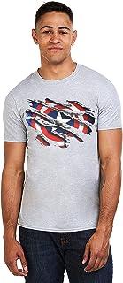 Marvel Captain America Torn Camiseta para Hombre