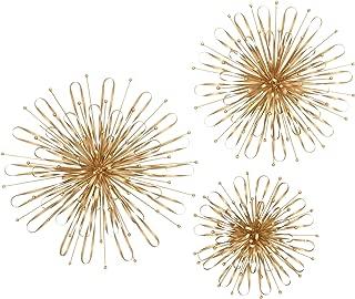 Deco 79 现代金属泡泡球墙饰,60.96 厘米、50.80 厘米和 40.64 厘米深,金色饰面,3 件套