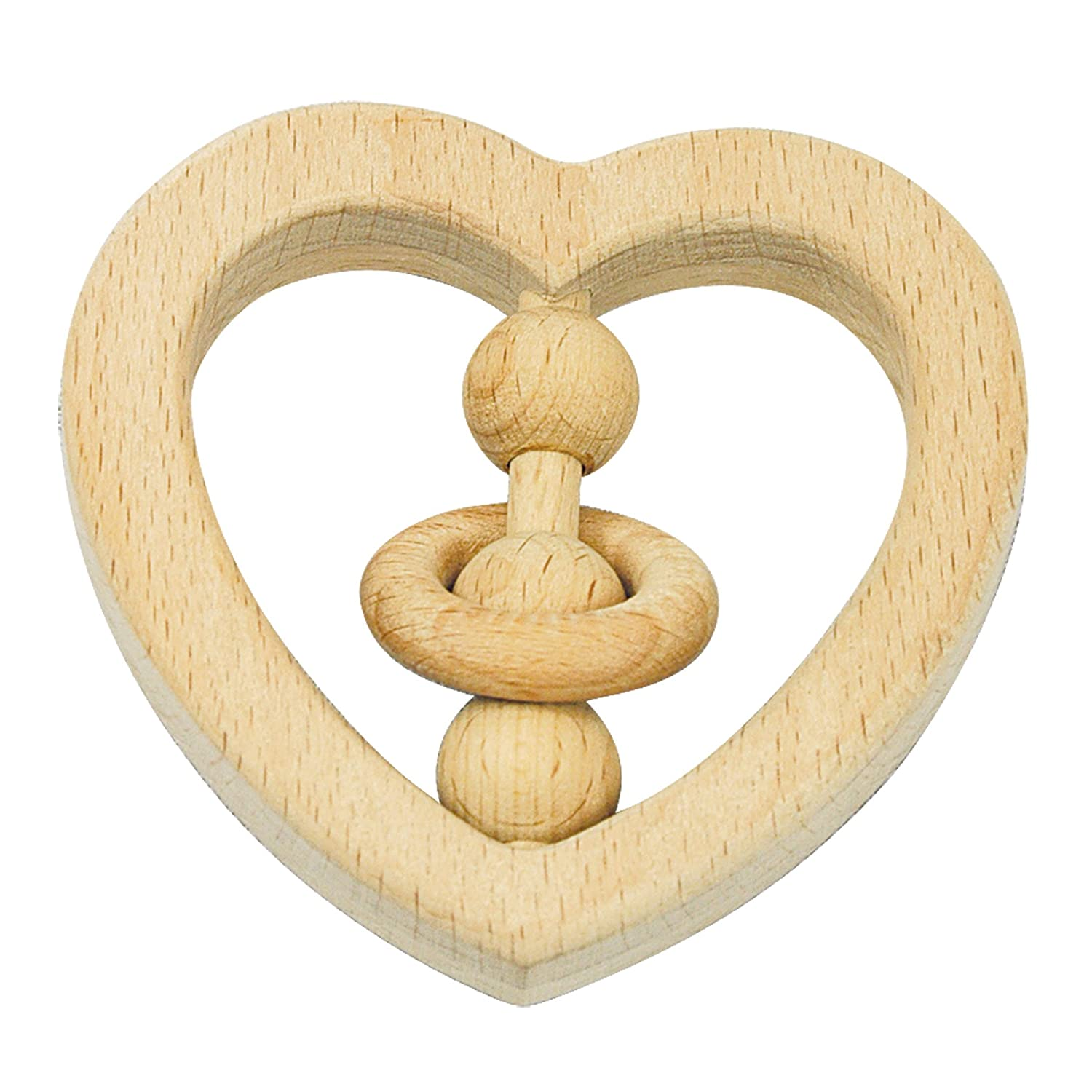 Discontinued by Manufacturer green sprouts Natural Wood Heart Rattle