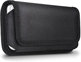 for iPhone 8 Plus Belt Pouch Case, miadore Horizontal Belt Clip Holster [Magnetic Flap] Black Nylon Phone Holder Cover [ Elastic Side ] with Belt Loops for iPhone 8 Plus 7 Plus 6S Plus 6 Plus