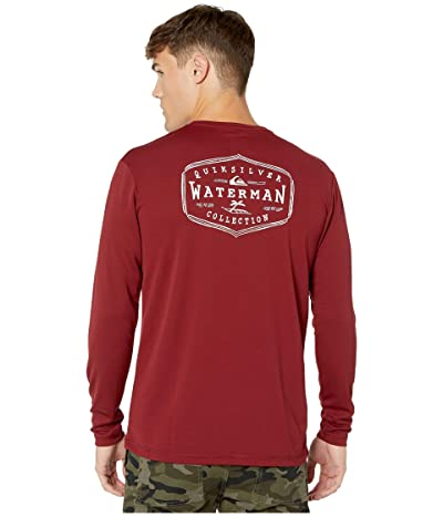 Quiksilver Waterman Gut Check Long Sleeve UPF Surf Tee (Pomegranate) Men