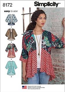 Simplicity 8172 Kimono Sewing Pattern for Women, Sizes A (XXS-XXL)