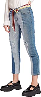 Iconic Women's 2091098 SS24RIPDENIM Woven Tapered Trousers, Blue