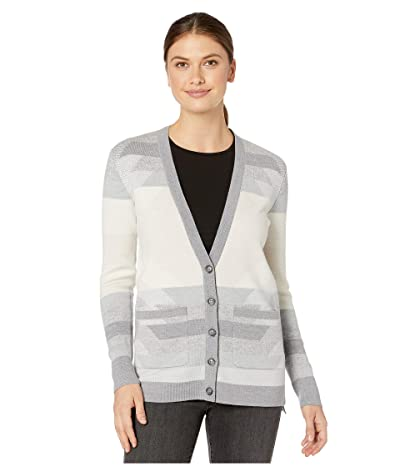 Pendleton Geo Merino Cardigan (Light Grey Multi) Women