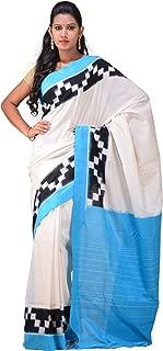 Uppada Women's Pochampally Ikat Cotton Handloom Saree With Border Design