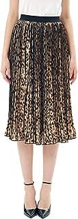 Women's Leopard Chiffon A-Line Pleated Midi Skirt
