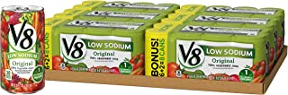 V8 Original Low Sodium 100% Vegetable Juice, 5.5 Fl Oz (48 Count)