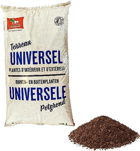 La Plaine Chassart - Terreau Universel 20L - Rempotage de Toutes Les Variétés de Plantes Intérieur et Extérieur - Jar...