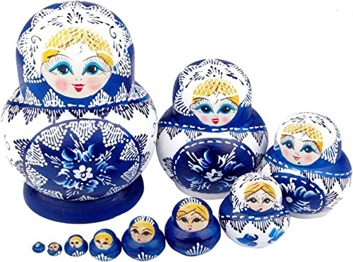 sin mínimo NuoYa001 Limited Edition Popular Set of of of 10pc Russian Nesting Dolls Russian Matryoshka Russian dolls by NuoYa by NuoYa  más vendido