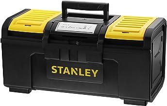 Stanley Basic 1-79-217 Gereedschapskist (49 x 27 x 24 cm, gereedschapsorganizer met snelsluiting, zware uitvoering, trolle...
