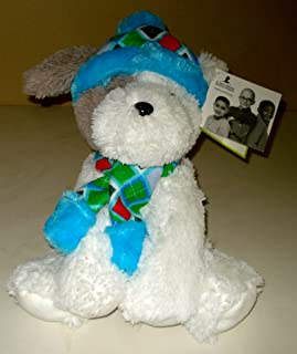 Puppy Dog Soft Plush With Winter Hat And Scarf From St. Jude's - Sits 15 Inches