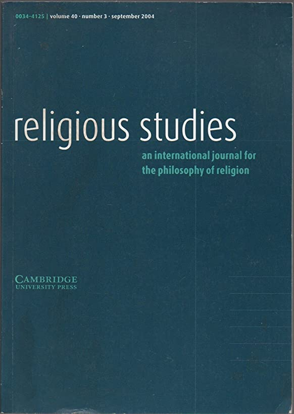 Religious Studies: An International Journal for the Philosophy of Religion, vol. 40, no. 3 (September 2004) (Talbott's Universalism, Divine Justice & Atonement; Divine Deception, Identity & Social Trinitarianism; Omniscience & Maximal Power; Supervenience & Property-Identical Divine-Command Theory)