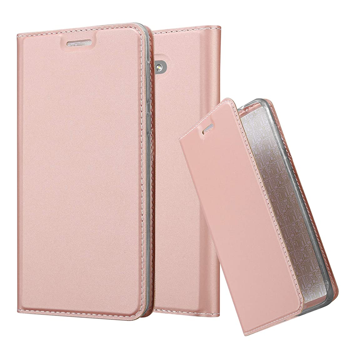 Cadorabo Book Case Works with Honor 6X in Classy ROSé Gold – with Magnetic Closure, Stand Function and Card Slot – Wallet Etui Cover Pouch PU Leather Flip