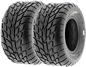 Pair of 2 SunF A021 TT Sport ATV UTV Dirt & Flat Track Tires 22x10-10, 6 PR, Tubeless