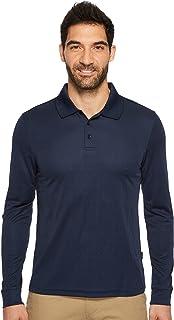 Perry Ellis Men`s 3 Button Long Sleeve Jacquard Polo