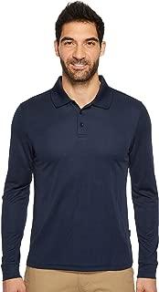 Men's 3 Button Long Sleeve Jacquard Polo