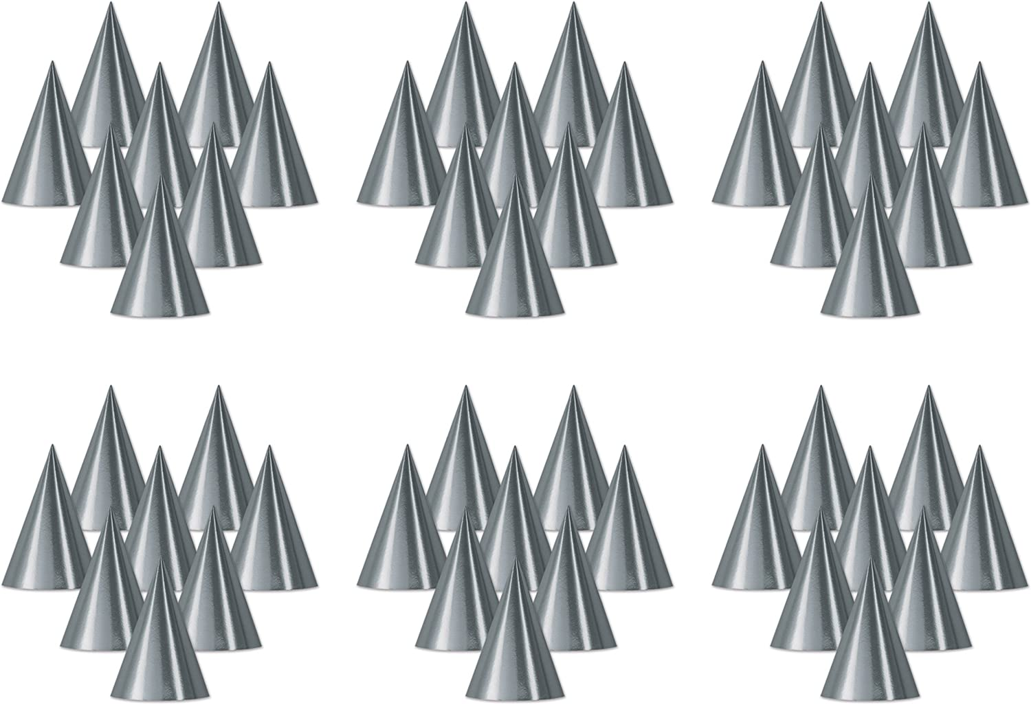 Beistle Silver Foil Cone Hat