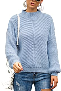 Aoymay Women Knit Oversized Sweaters Long Sleeve Loose Pullover Sweaters Jumper Tops