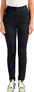 Moncler Women's Wool Dark Blue Skinny Casual Pants US 6 IT 42