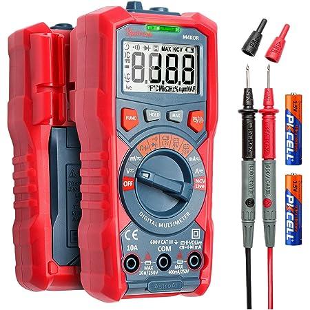AstroAI Digital Multimeter, TRMS 4000 Counts Auto-Ranging Ohmmeter Voltmeter 1.5v/9v/12v Battery Voltage Tester Measure Voltage Current Resistance Diodes Continuity Capacitance with NCV Function
