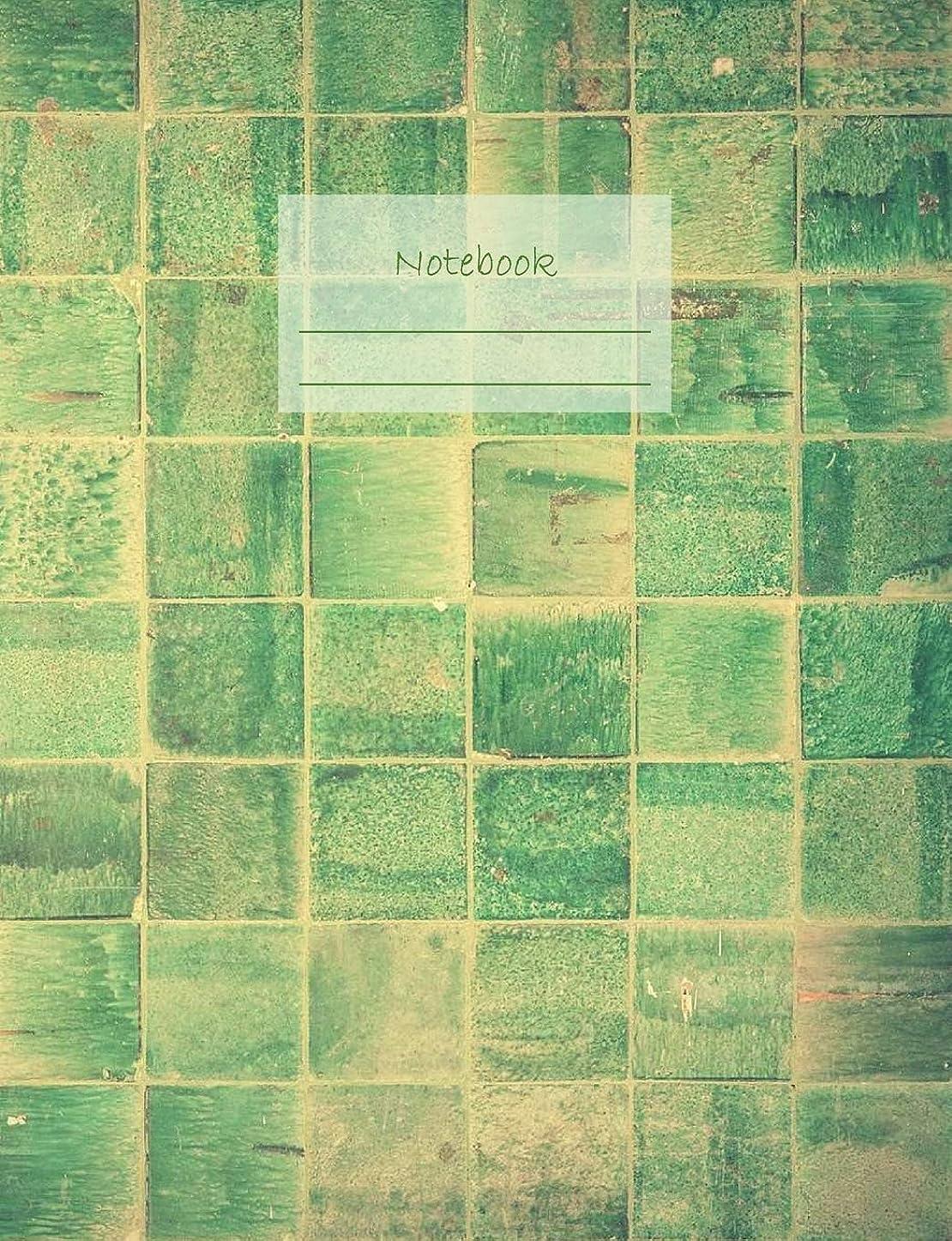 """コマンド同盟協定Notebook: Composition Notebook. College ruled with soft matte cover. 120 Pages. Perfect for school notes, Ideal as a Journal or a Diary. 9.69"""" x 7.44"""". Great gift idea. (Green tiles cover)."""
