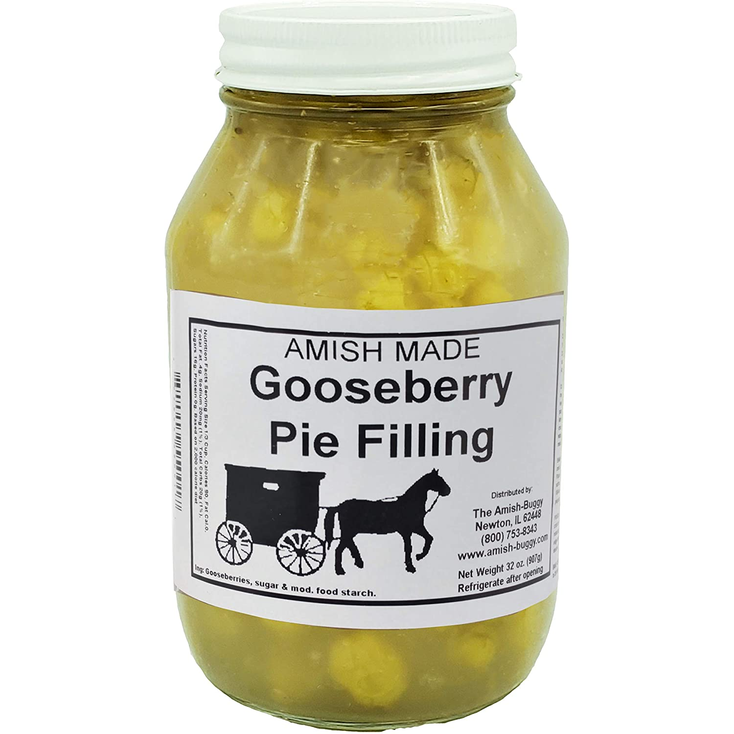 Amish Buggy Ready To Use Pie Filling Ranking TOP19 Topping Jar Goo New color oz. 32 and