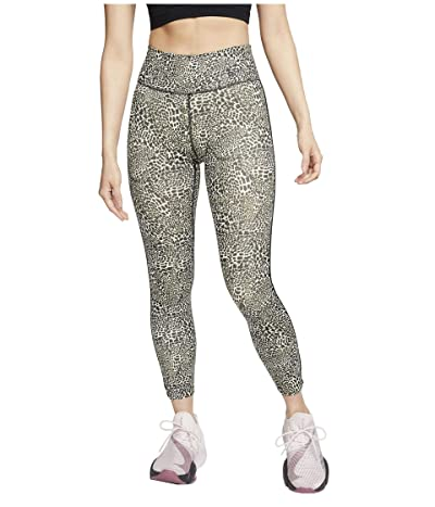 Nike One Tights 7/8 Mini Leopard (Black/Black) Women