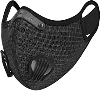 UTOTEBAG Breathable Face Mask with Valves Ventilated Sports Masks for Men Women Workout Exercise Training Gym