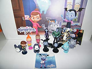 Disney Vampirina Deluxe Party Favors Goody Bag Fillers Set of 14 with 12 Figures and 2 Neat Stickers Featuring Wolfie the Werewolf, Ghost, Friends and Family!