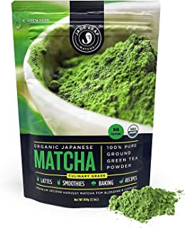 Jade Leaf Matcha Green Tea Powder - Organic, Authentic Japanese Origin - Culinary Grade - Premium 2nd Harvest [3.53oz]