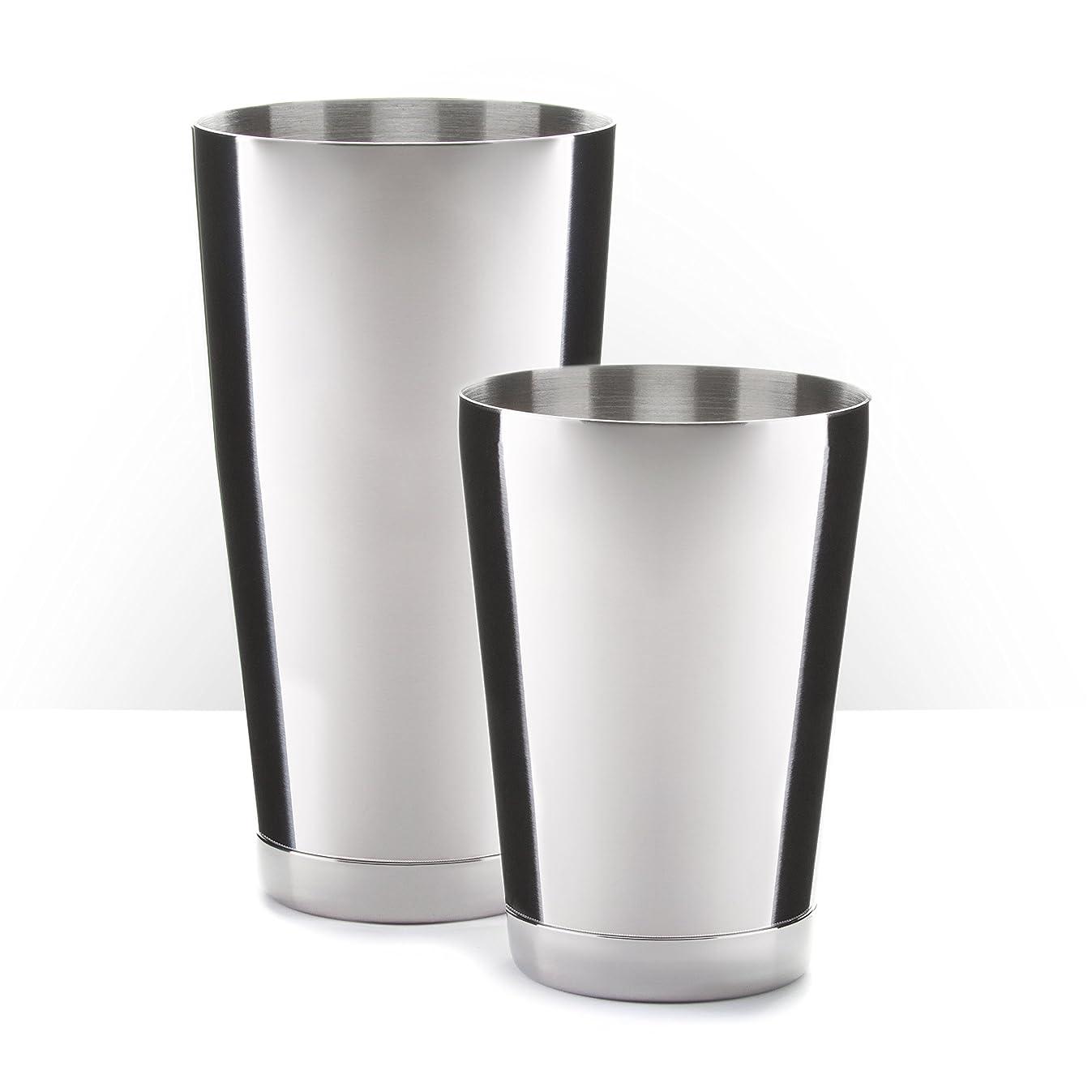 Pi?a Barware Stainless Steel Commercial Bar Boston Shaker Tin Set - 28oz. & 18oz.