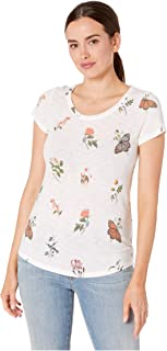Lucky Brand womens TOSSED BOTANICAL PRINT TEE T-Shirt