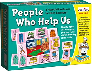 CRE0629 People Who Helped Us, Educational Toys and Games, 5 years and above,Multi color