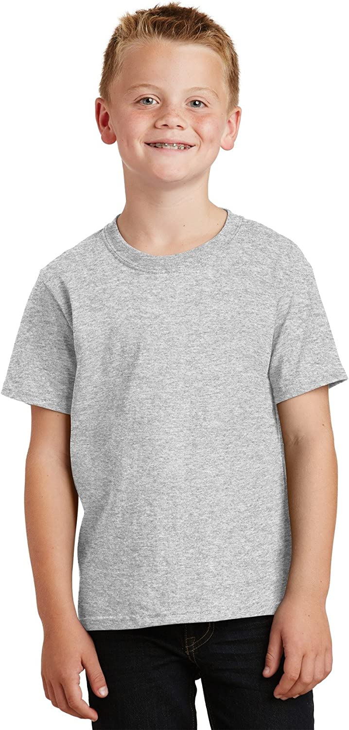 Port Company Boys' 54 oz 100% Max 66% OFF Cotton Safety and trust Shirt T