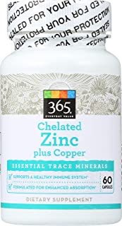 365 Everyday Value, Chelated Zinc plus Copper, 60 ct