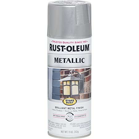 Rust Oleum 1915830 Spray Paint Each Silver Spray Paints Amazon Com