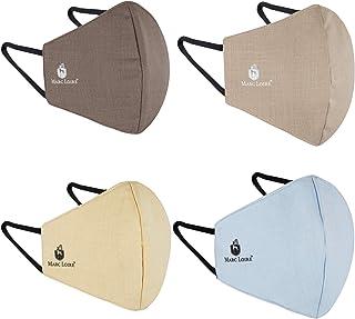 Marc Loire 100% Pure Cotton 6-Layered Super Soft Reuseable Washable Protection Cloth Face Mask (Multicolor, Without Valve,...