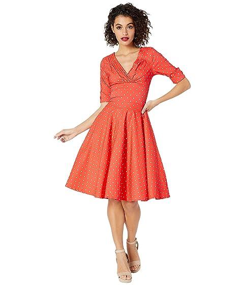 f0bc173477dd Unique Vintage Pantone x Unique Vintage 1950s Delores Swing Dress with  Sleeves
