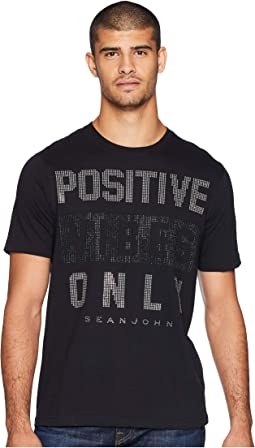 Positive Vibes Only Stud Tee