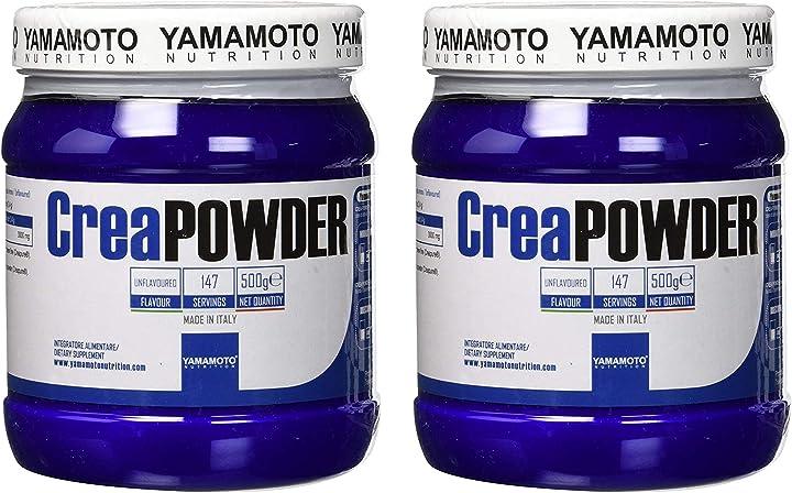 Creatina yamamoto nutrition creapowder integratore alimentare a base di creatina… 1kg (2 confezioni) B08HS4Q8BS