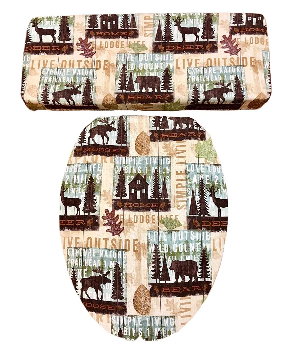 Chicago Mall Bear Moose Deer HANDCRAFTED Toilet Set Lid Tank Ranking TOP19 Seat Cover